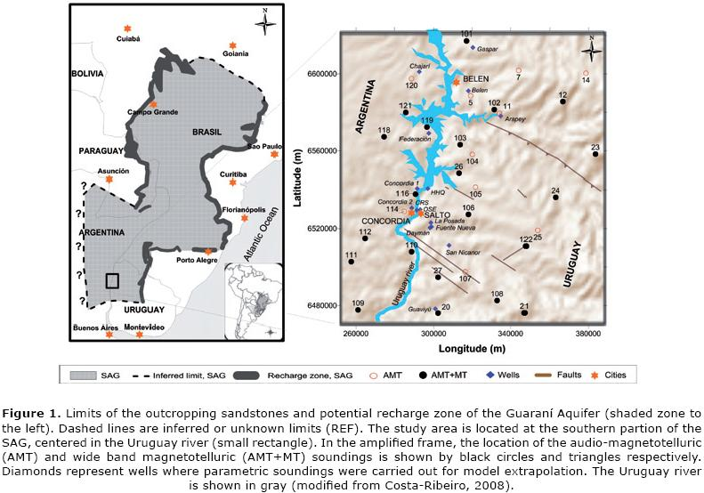 Structure of the guaran aquifer in the surroundings of the uruguay 1 publicscrutiny Images