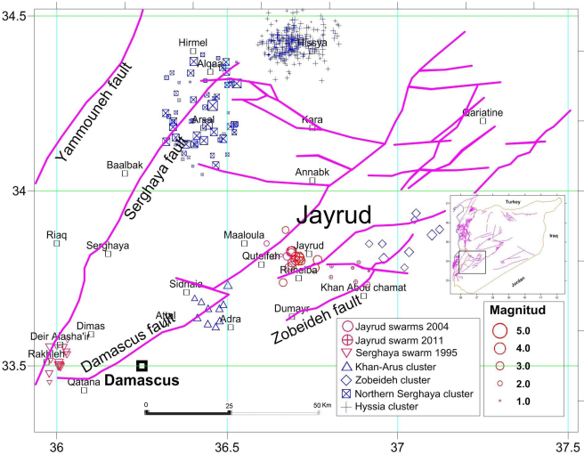 The recent instrumental seismicity of Syria and its implications