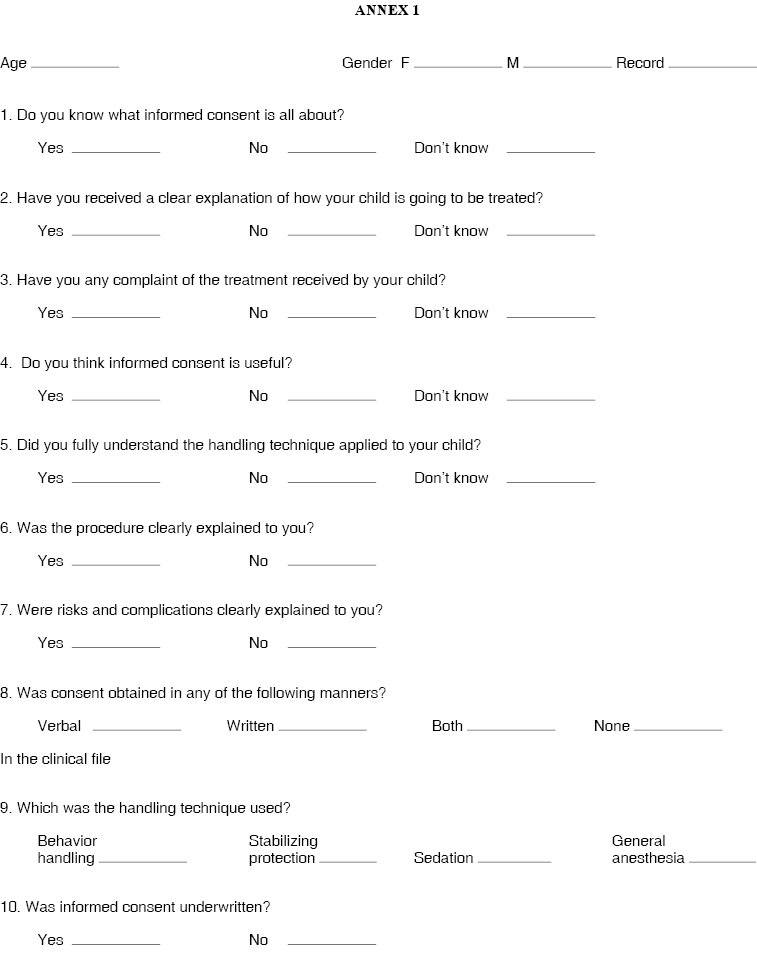 Papoose Board Consent Form 92277 | SOFTHOUSE